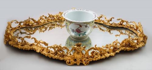 DEKORACJA ŚRODKA STOŁU (SURTOUT DE TABLE) W STYLU ROKOKOWYM, Francja, 2 poł. XIX w.
