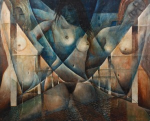 Konstanty GORBATOWSKI, TRZY AKTY NA TLE MIASTA, 1976