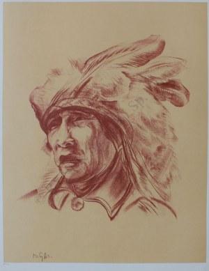 """Bolesław Cybis wg (1895-1957), Vanished Dreams. Yuma Tribe(z teki """"Folio One of American Indian"""" pl.9, 1970, no 258/1000)"""
