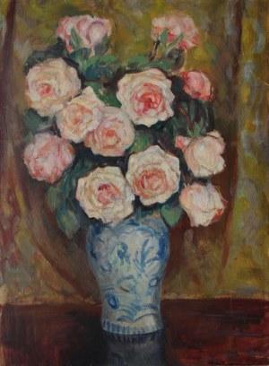 Stefan Filipkiewicz (1879-1944), Róże w wazonie
