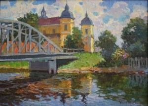 Jerzy Pogorzelski (1926-2003), Pejzaż z mostem