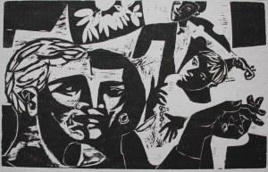 Jonasz Stern (1904-1988), Para ze skrzypkiem(l.30.XX w.)