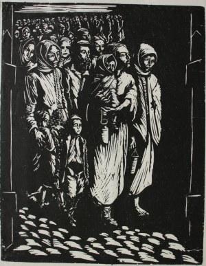 """Jonasz Stern (1904-1988), Wysiedlenie II(z cyklu """"Getto lwowskie"""")"""