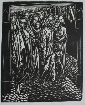 """Jonasz Stern (1904-1988), Wysiedlenie IV(z cyklu """"Getto lwowskie"""")"""