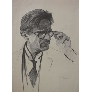 Tadeusz Waśkowski (1883-1966), Portret mężczyzny w okularach