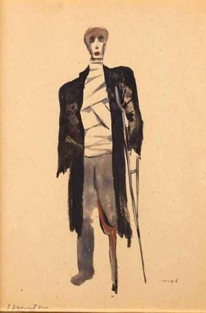 Tadeusz Kantor (1915 Wielopole Skrzyńskie - 1990 Kraków), Mąż - projekt kostiumu