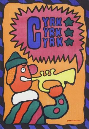 Jan MŁODOŻENIEC (1929-2000) - projektant, Cyrk: clown z trąbką, 1969