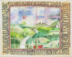 Henryk WANIEK (ur. 1942), Droga do zamku Wieczornego z Białej Doliny, 2005