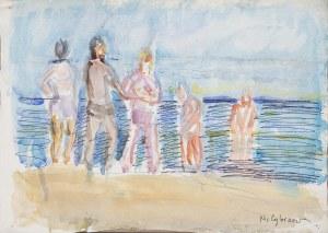 Helena ZAREMBA-CYBISOWA (1911-1986), Plaża w Świnoujściu, 1978