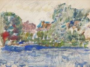 Jan CYBIS (1897-1972), Pejzaż z Nieborowa, 1953