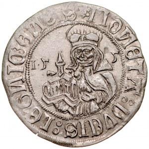 Śląsk, Księstwo Legnicko-Brzesko-Wołowskie, Fryderyk II 1505-1547, Grosz 1505, Legnica.