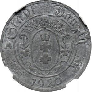 Wolne Miasto Gdańsk, 10 pfennig 1920, NGC MS61