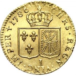 Francja, Ludwik XVI, luis d'or 1786, Limoges, bardzo ładny egzemplarz