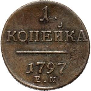 Rosja, Paweł I, 1 kopiejka 1797 E.M., Jekaterinburg (R)