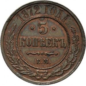 Rosja, Aleksander II, 5 kopiejek 1872 E.M., Jekaterinburg