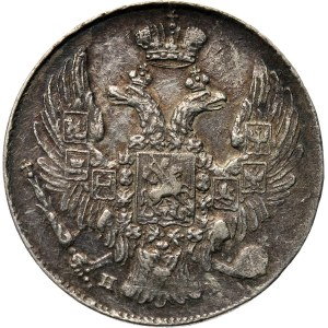 Rosja, Mikołaj I, 10 kopiejek 1837 HG, Petersburg, rzadszy rocznik