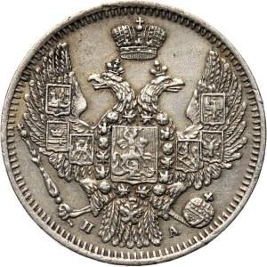 Rosja, Mikołaj I, 10 kopiejek 1847 PA, Petersburg