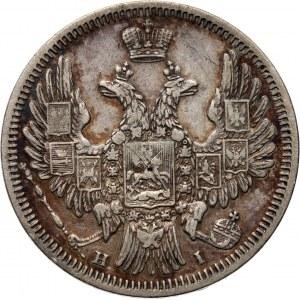 Rosja, Mikołaj I, 20 kopiejek 1848 HI, Petersburg