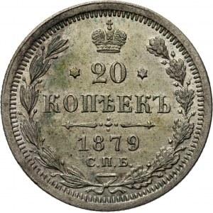 Rosja, Aleksander II, 20 kopiejek 1879 HF, Petersburg, UNC-
