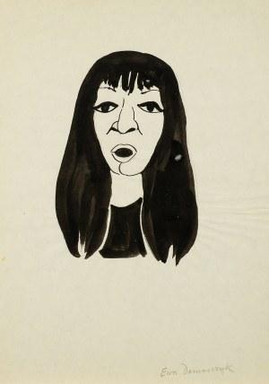 Jerzy Flisak (1930 Warszawa - 2008 tamże), Karykatura Ewy Demarczyk