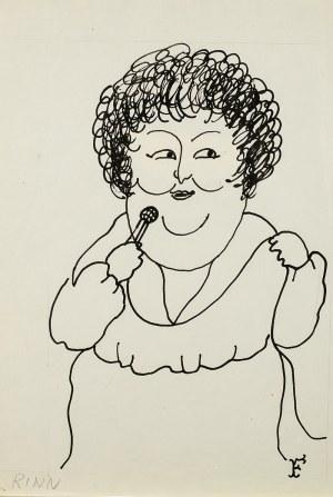 Jerzy Flisak (1930 Warszawa - 2008 tamże), Karykatura Danuty Rinn