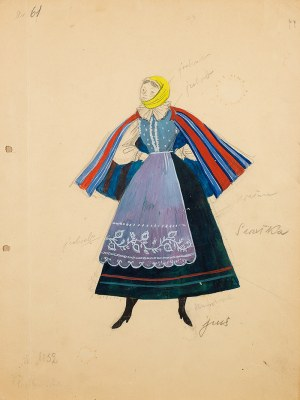 Jan Marcin Szancer (1902 Kraków-1973 Warszawa), Projekty kostiumów do Wesela