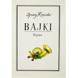 Jerzy Flisak (1930 Warszawa - 2008 tamże), Bajki, Ignacy Krasicki, zbiór 9 ilustracji