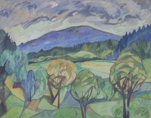 Irena STANKIEWICZ-SKOCZOWA (1910-?), Pejzaż podgórski