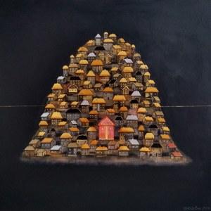 Grażyna Kilanowicz-Barecka, Kompozycja, z cyklu Wyspy, 2019