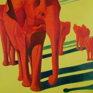 Jolanta Kitowska, Czerwone słonie z Tsavo 2, 2019