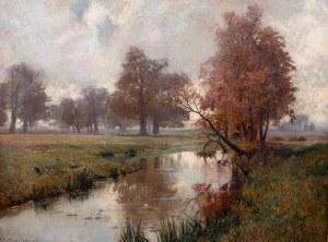 Michał Gorstkin Wywiórski (1861 Warszawa - 1926 Berlin), Pejzaż, 1917 r.