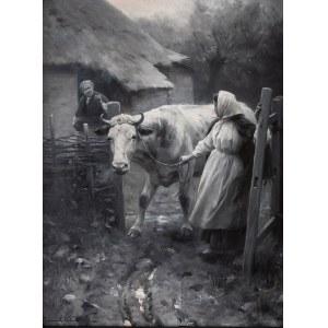 Zygmunt Ajdukiewicz (1861 Witkowice – 1917 Wiedeń), Scena rodzajowa, 1896 r.
