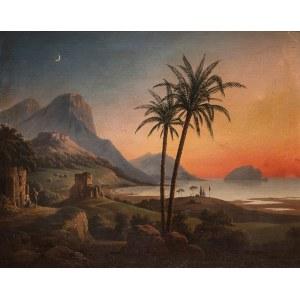 January Suchodolski (1797-1875), Zachód słońca we Włoszech, 1834 r.