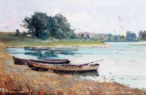 Henryk Baranowski (1932 Starogard Gdański - 2005 Gdynia), Łodzie przy brzegu