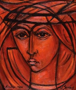 Eugeniusz GERLACH (ur. 1941), Czerwony portret, 1984