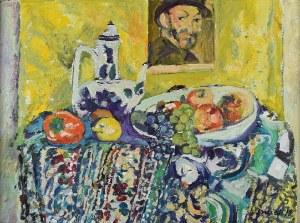 Juliusz JONIAK (ur. 1925), Martwa natura z Cézannem, 2019