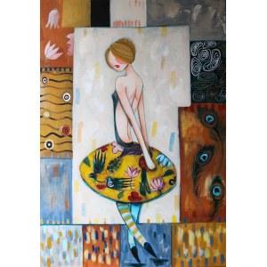 Berenika Korecka-Sowińska (ur. 1984), Baletnica z pawiem, 2019
