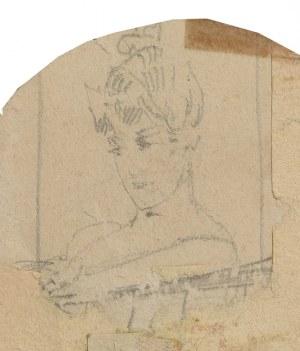 Franciszek ŻMURKO (1859-1910), Kobieta w kapeluszu - Szkic okazjonalny