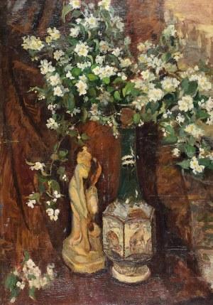 Anna MAŚLAKIEWICZ-BRZOZOWSKA (1912-1986), Martwa natura z jaśminem, 1943