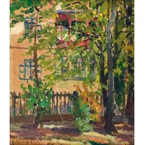 Hanna RUDZKA-CYBISOWA (1897-1988), Ogród - Widok z okna