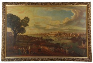 Jarosław KIRILENKO (1913-1977) wg Bernardo Bellotto zw. Canaletto (1721-1780), Widok Warszawy od strony Pragi