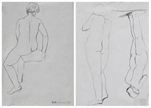 Henryk BERLEWI (1894-1967), Szkice postaci - rysunek dwustronny,1938