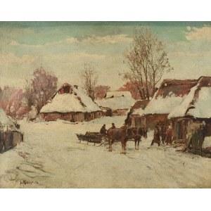 Józef GRACZYŃSKI (1866-1939), Wioska zimą