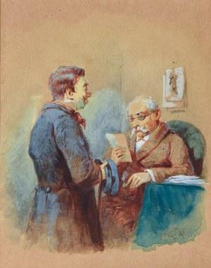 Franciszek KOSTRZEWSKI (1826-1911), Dostarczono list, 1895