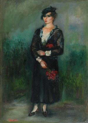Jakub ZUCKER (1900-1981), Pani z kwiatami