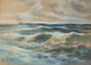 Wacław ŻABOKLICKI (1879-1959), Na wzburzonym morzu