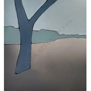 Paula Graczyk, Pejzaż zimowy z drzewem (2019)