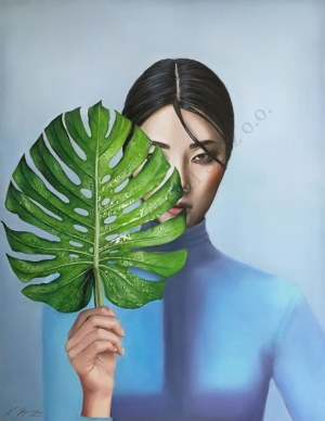 Kamila Stępniak, Lady with a Leaf (2019)
