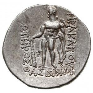 tetradrachma 146-50 pne, Aw: Głow Dionizosa w prawo, Rw...