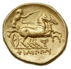 stater 359-336 pne, Aw: Głowa Apollina w prawo, Rw: Big...